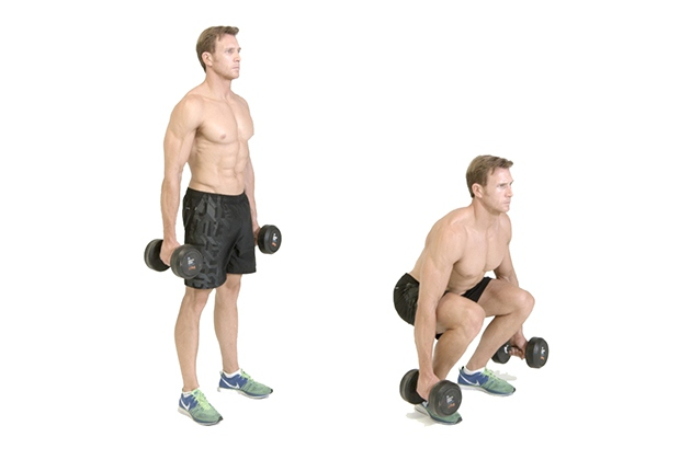 Tập Dumbbell Squat