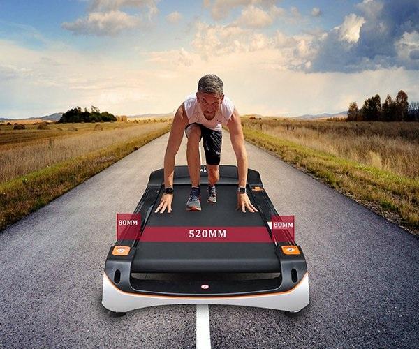 Băng tải rộng giúp tập luyện thoải mái hơn