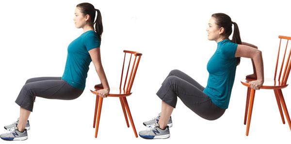 Giảm mỡ bắp tay với ghế
